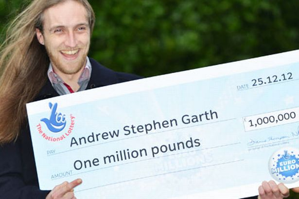 andy garth lottery winner