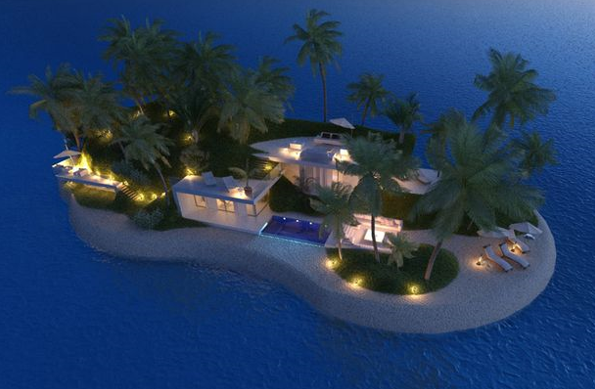 Portable islands, buy a private island