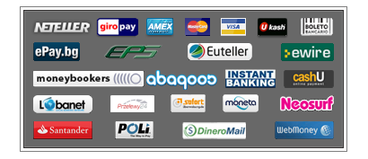 The various different payment methods at PlayHugeLottos.com